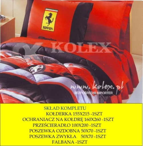 Kompl Dziec Ferrari Modena 89604616 Exclusive Touch Pościel
